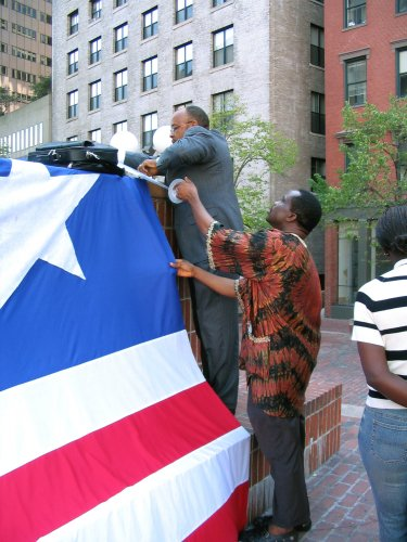 Torli Krua Prepares To Raise Liberian Flag In Boston