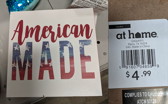 American made? No