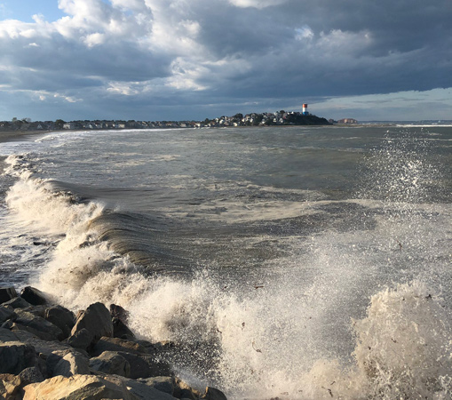 Angry sea at Deer Island