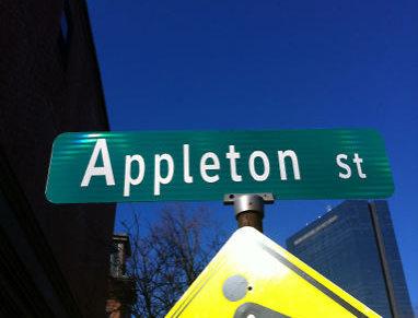 Bad font on South End street sign