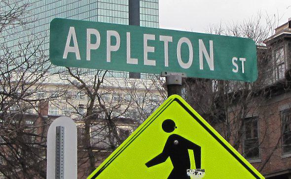 Appleton Street sign