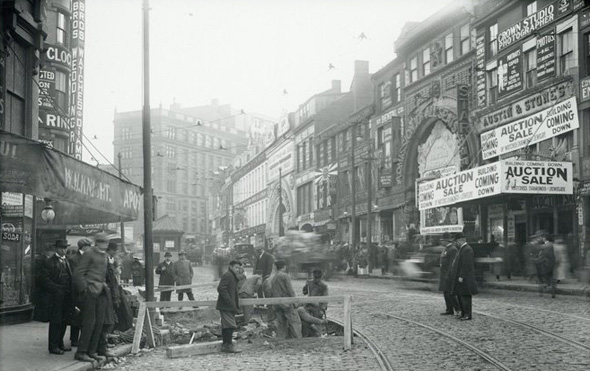 Street scene in old Boston