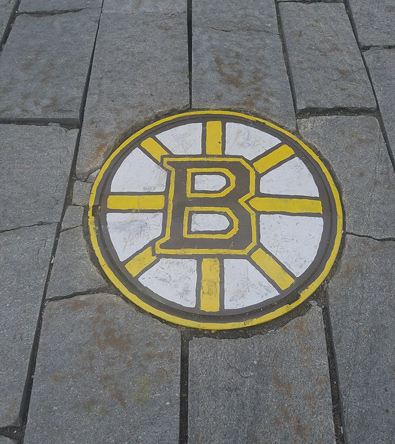 Bruins manhole cover in Boston