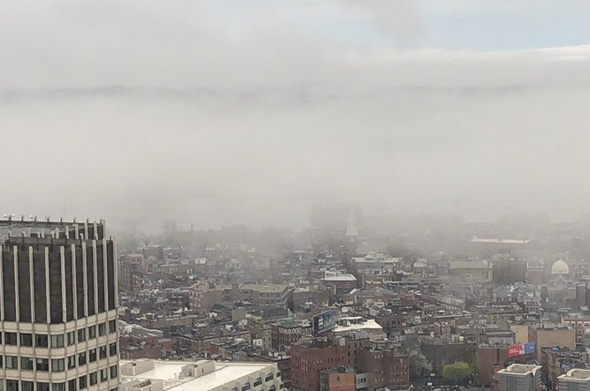Fog over the North End