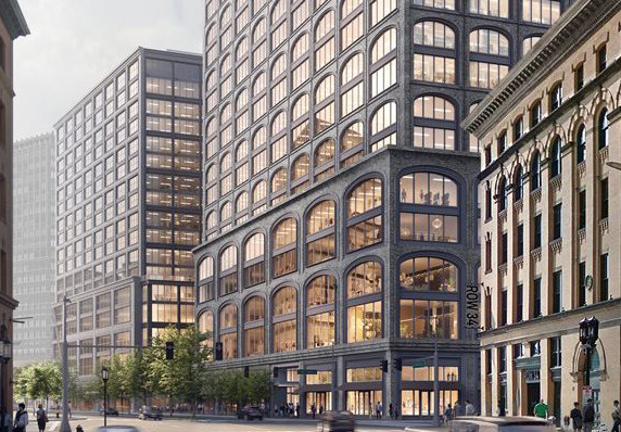 Architect's rendering of Block N building