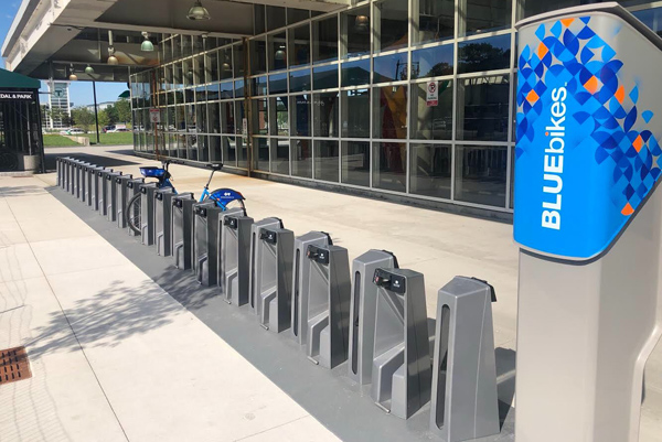 Bluebikes at Forest Hills