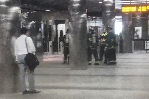 Blue Line train evacuated at Maverick Square