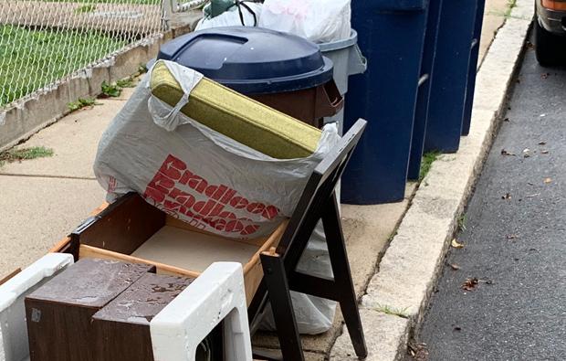 Bradlees bag in Roslindale