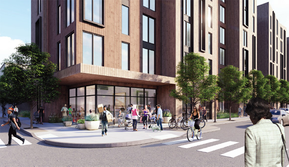 Architect's rendering of Bremen Street proposal