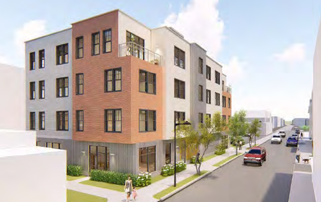 Architect's rendering of 121 Brookside Ave.