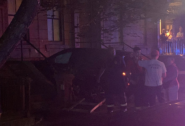 Car into building on Washington Street in the South End