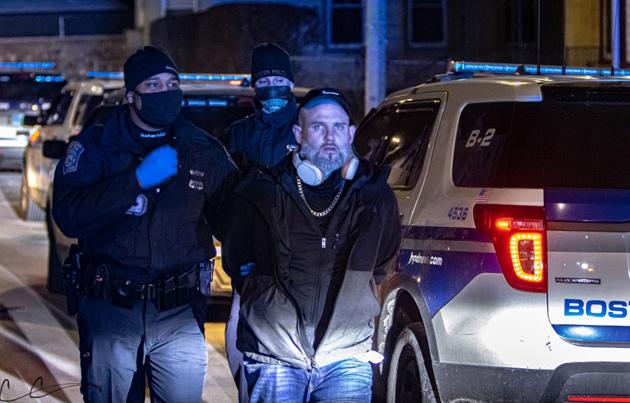 Suspect under arrest