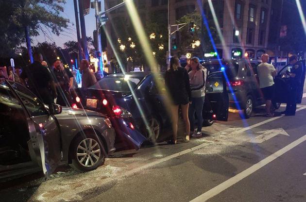 Central Square crash scene