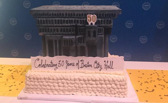 City Hall cake