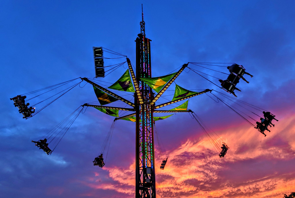 Chelsea carnival at sunset