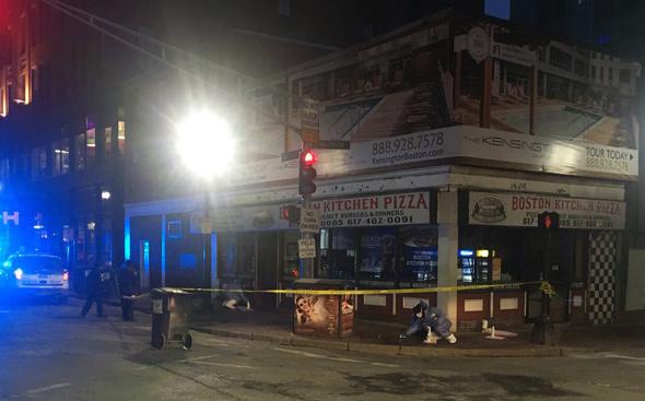 Stabbing scene in Chinatown
