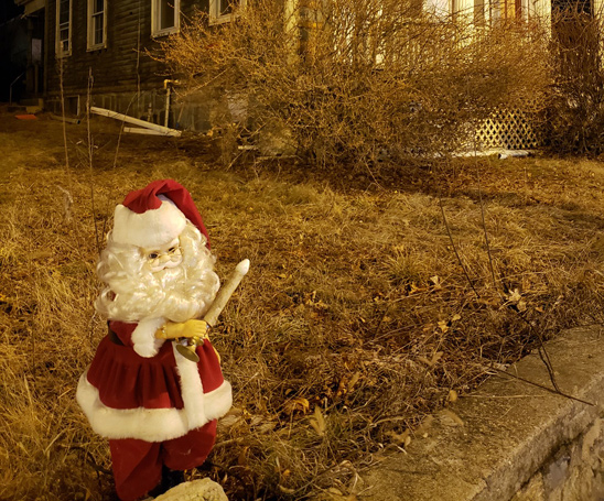 Creepy Santa in West Roxbury