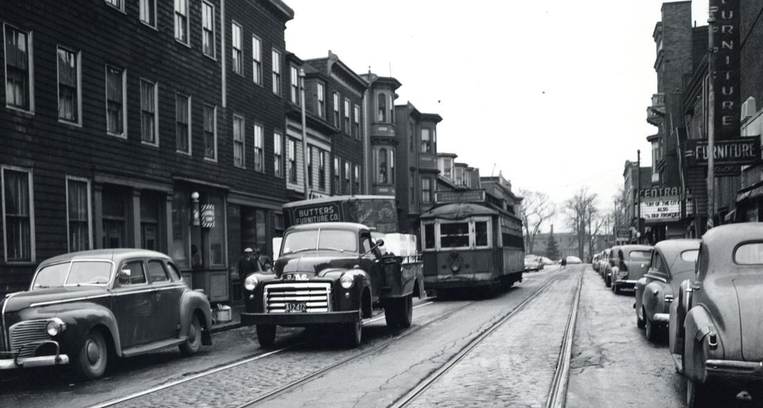 Trolley in old Boston