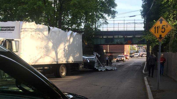Storrowed truck in Arlington