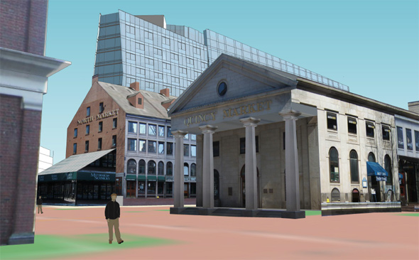 Archiect's rendering of proposed Dock Square building