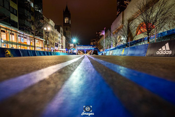 Boston Marathon finish line in Copley Square