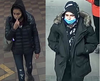 Wanted for questioning: Two women