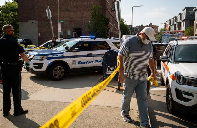 Dudley Street crime scene