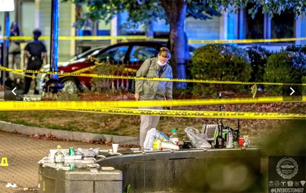 East Boston crime scene