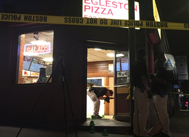 Detectives at Egleston Pizza