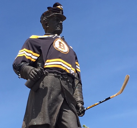 David Farragut in Bruins gear