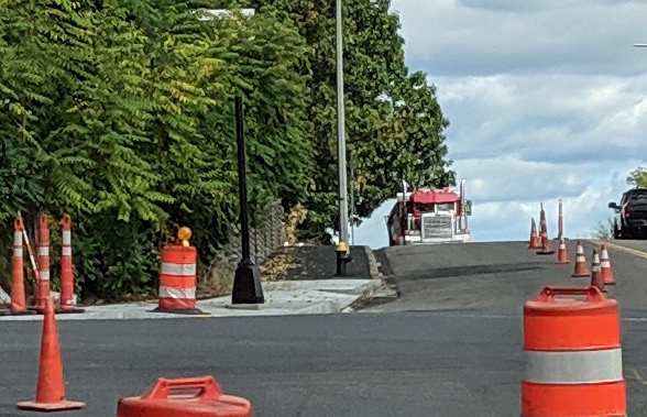Traffic lights going in at intersection of West Milton Street and Hyde Park Avenue