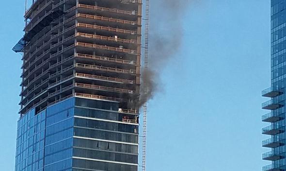 Building on fire near TD Garden
