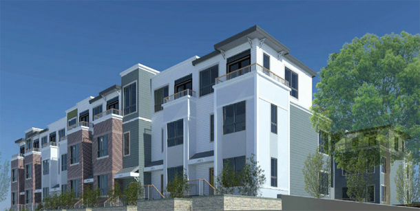 Architect's rendering of West Roxbury apartments