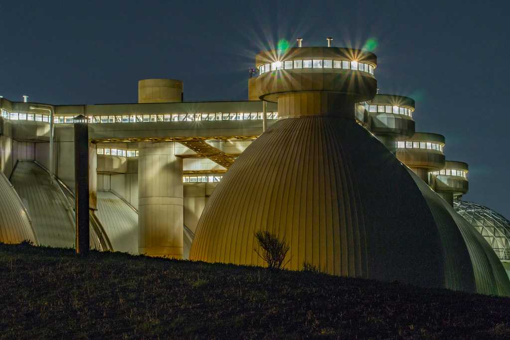 Digester tanks at Deer Island