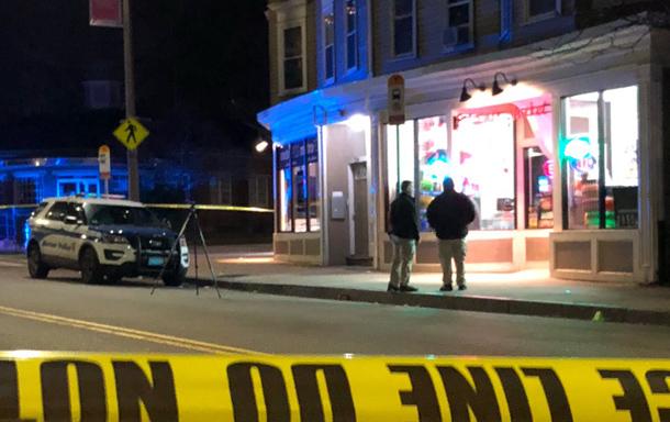 Peguero's murder scene in Dorchester.