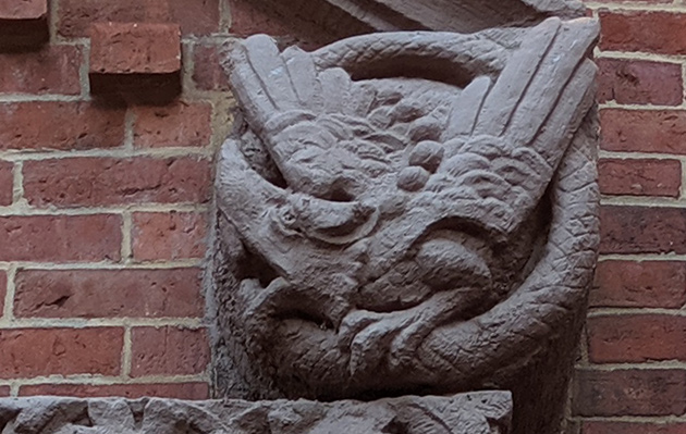 Gargoyle on Wellington Street building