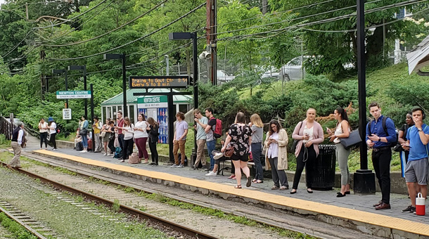 Waiting for the Green Line in Newton