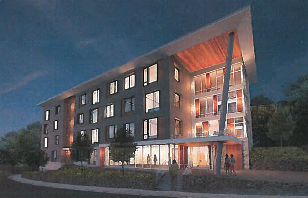 Architect's rendering of proposed 273 Highland St.
