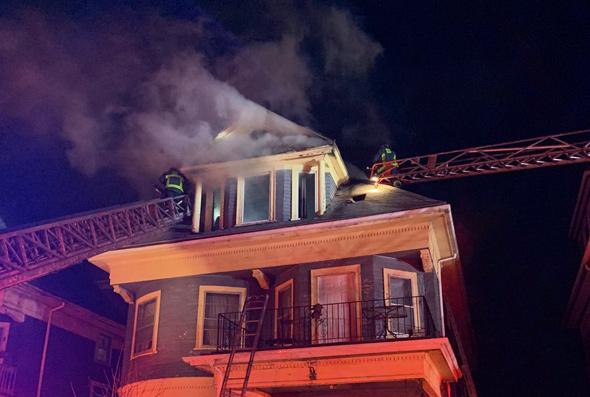 Fire at 15 Powellton Rd. in Dorchester