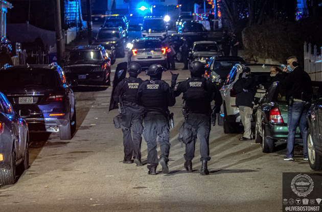 Police on Ellis Street