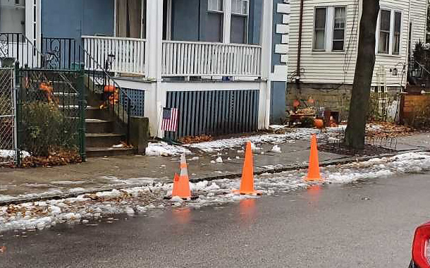 Cones on Wachusett Street