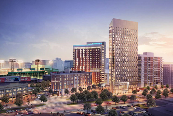 Architect's rendering of new Kenmore Square hotels