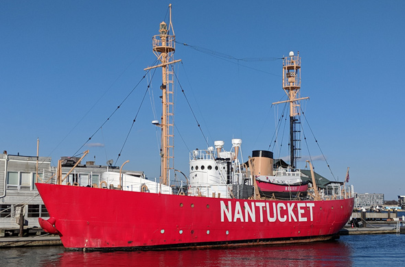 Nantucket Lightship at Commercial Wharf