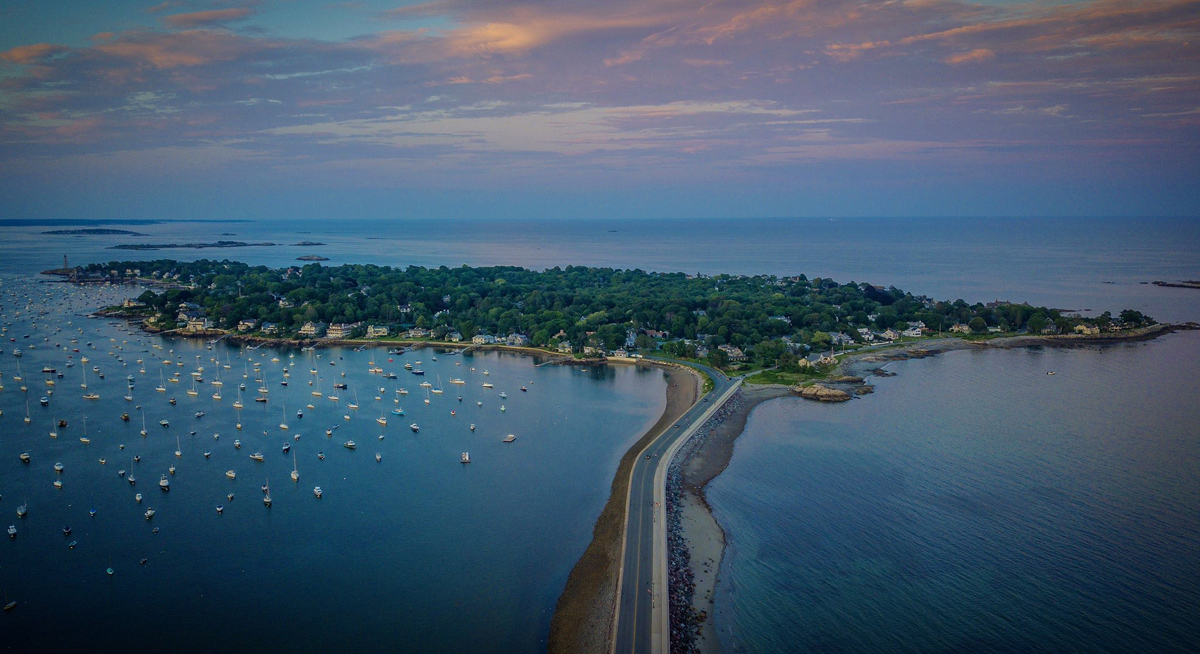 Sunset over Marblehead Neck