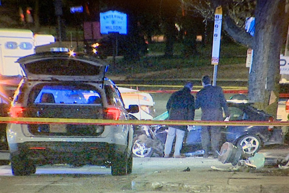 Police investigate fatal crash in Mattapan Square