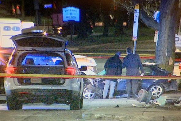 Police investigate fatal crash in Mattapan Square