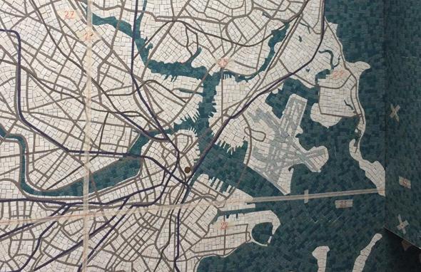 Mosaic map at South Station