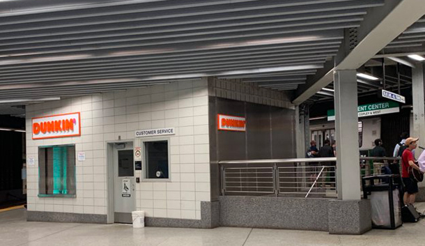 New Dunkin' at Government Center Green Line stop