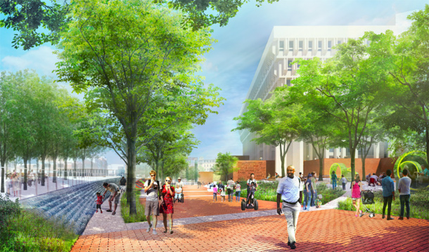 Rendering of new City Hall Plaza