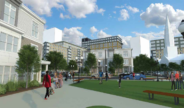 Architect's rendering of new Whittier Street development